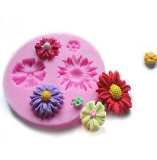 3D Flower Silicone Mold Fondant Cake Decor Chocolate Sugarcraft Mould Baking DIY