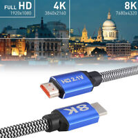 HDMI 2.1 Cable 8K 60Hz Ultra HD HDR 48Gbps HDMI Male to Male Video Cord