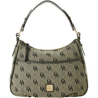 🌹NWT Dooney & Bourke Signature Maxi Quilt East West Collins Shoulder Bag Black