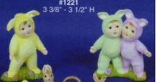 Easter Bunny Rabbit Baby Set Ready to Paint, Unpainted Ceramic Bisque