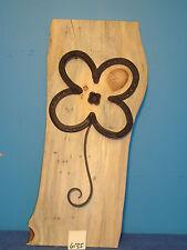 #6135 horse shoe art on white pine back board rustic made USA