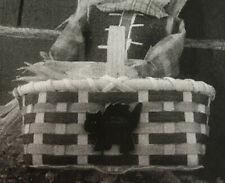 Basket Weaving Pattern Halloween Basket by Maurine Joy