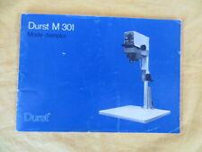 Agrandisseur photographique DURST M 301 - mode d'emploi
