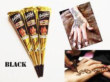 3 Black Henna Paste Cones Tattoo Kit Bodyart Temporary Mehandi Kone Free Shippin