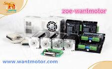 US Free! 4Axis Wantai Stepper Motor Nema23 57BYGH627 270oz-in 3A 4-Lead &Driver