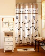 Sand Dollars Seashore Shower Curtain Sandpiper Beach Coastal Nautical Hooks Rug