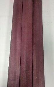 3 Pezzi Lotto, Amaranto Thin Stock Lumber Assi / IN Legno Artigianato 3/20.3cm X