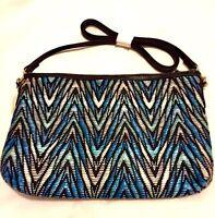 Brand New Textured Clutch or Shoulder Bag Detachable Black Strap - Never Used
