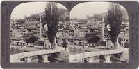 Sarajevo Moschea Foto Stereo Stereoview Analogica Vintage
