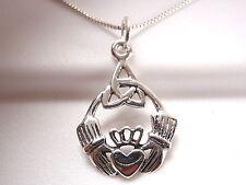 Claddagh Celtic Infinity Pendant 925 Sterling Silver Corona Sun Jewelry round