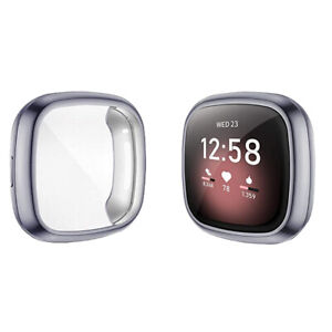 Case For Fitbit Sense Fitbit Versa 3 TPU Soft Screen Protector Shockproof Cover