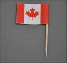 100PCS - CANADA FLAG Bamboo Toothpicks Toothpick Cocktail Food Fruit Party