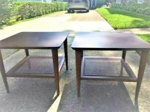 Pair LANE MID-CENTURY MODERN TABLE SIDE END VINTAGE 1960s Possible Delivery