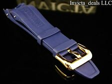 NEW Invicta Pro Diver Scuba Blue Rubber Strap Band Gold Buckle AUTHENTIC