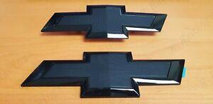 New Gloss Black Front & Tailgate Bowtie Emblem Silverado 1500 2500 HD/3500 HD