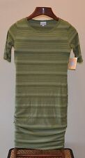 LuLaRoe - Julia XS  Green  Heather   Striped   Dress