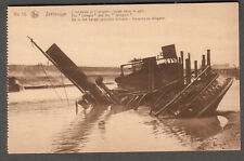 unmailed post card Zeebrugge The Intrepid and The Iphigenir scuttled ships WWI