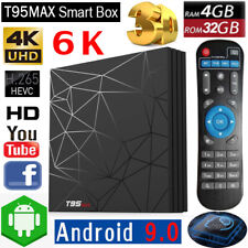 Android 9.0 T95MAX 4GB+32GB Smart TV BOX H6 Quad Core 6K HDR 3D WiFi H.265 MPEG4