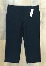 NEW Charter Club Womens Luxe Bohemian Black Cropped Ankle Pants Trousers 16 NWT