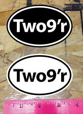 29 29er Two9er Black White Mountain Bike Cycling sticker decals oval - 2 for 1