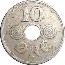 Denmark 10 Ore 1935 N♥GJ KM#822.2 - Christian X (D-15)