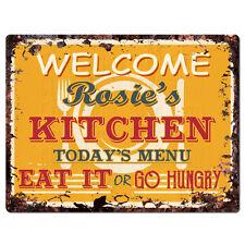 Ppkm0323 Rosie'S Kitchen Rustic Chic Sign Funny Kitchen Decor Birthday Gift
