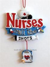 Nursing Christmas Ornament Graduation Gift Syringe Stethoscope RN LPN CNA ARNP