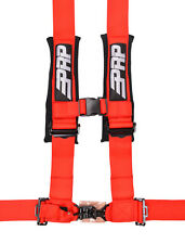 "PRP 4 Point Harness 3"" Pads Seat Belt SINGLE RED RZR XP 1000 Turbo 1000 RS1"