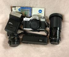 Minolta Xg-M 35mm Slr Film Camera Body & Accessories