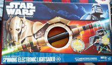Star Wars Clone Wars General Grievous Spinning Eletronic Lightsaber NeW Sounds