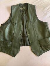 Unik Leather Apparelr Size 44 Black Lesther Vest Vintage