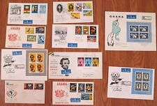 Lot 10x TEN Ghana 1959 1960 1961 FDC First Day Cover Collection Queen Elizabeth
