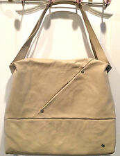 "Mandarina Duck Leather ""Fast"" Shoulder Bag/Cross Body Bag, Cement Light Color"