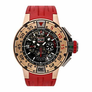 Richard Mille RM 032 Flyback Chronograph Diver Auto Gold Mens Watch RG