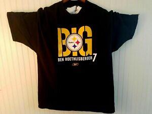 BIG BEN ROETHLISBERGER T SHIRT Pittsburgh Steelers Reebok NFL Football XL