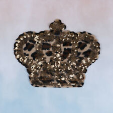 crown leopard sequins deal with it patches for clothing t shirt 3d stickers WL