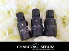 3x15 ml. Charcoal  Hair Serum Reduce Hair Loss, Split Dry, Damage -Free Shipping