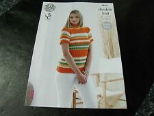 King Cole Double Knit Ladies Top and Cardigan Pattern 4836 Raglan Sleeve