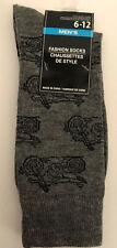 Men's Fashion Novelty Casual Dress Motorcycle Socks Size 6-12