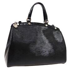 LOUIS VUITTON BREA MM 2WAY HAND BAG PURSE BLACK EPI PATENT LEATHER O02954