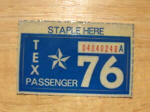 1976 TEXAS LICENSE PLATE STICKER
