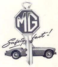 MG Key Blank. Vintage Style.  Terrific Gift.  MGA MGB MGC MGBGT MGTF MGTD MGTC.