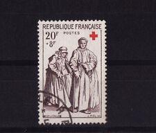 timbre France    croix rouge de 1957      num: 1141     oblitéré