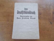 German Book Das Deutschland Buch Herausgegeben Von  Hans Blund 1935 Illustrated