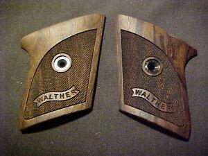 Walther TPH Pistol Grips Fine Checkered Walnut w/Banner Logo Beautiful! NEW GRIP