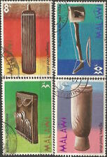 MALAWI 1973 SCOTT#209-12 ANCIENT TRADITIONAL MUSICAL INSTRUMENTS USED 2882