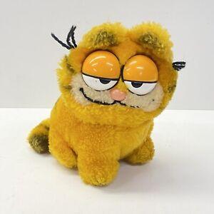 "Vintage Garfield Sitting 6"" Plush Stuffed Animal, R Dakin 1981"