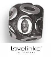Genuine Lovelinks Aagaard silver 925 birthday number 0 bracelet charm