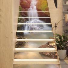 13Pcs 3D Waterfall Stair Risers Photo Mural Decal Creative Sticker DIY UK