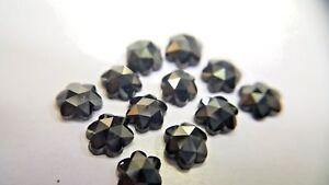 Diamante Naturale 1 Pezzi Decorato Nero AAA Fiore Rose-Cut Per Mamma Giorno Gift